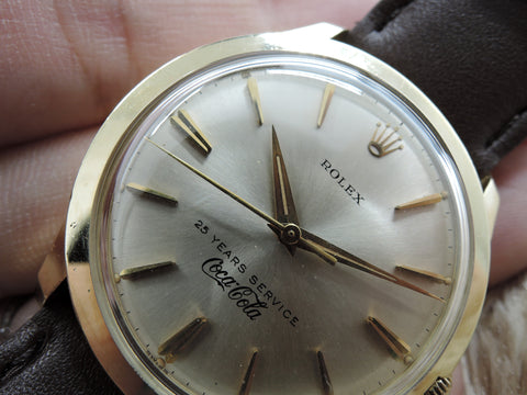 Rolex 14K Yellow Gold Silver Dial Co-Branded with Coca Cola