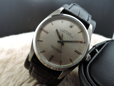 1964 Rolex OYSTER PERPETUAL 1018 Original Silver Dial BIG SIZE (36mm)