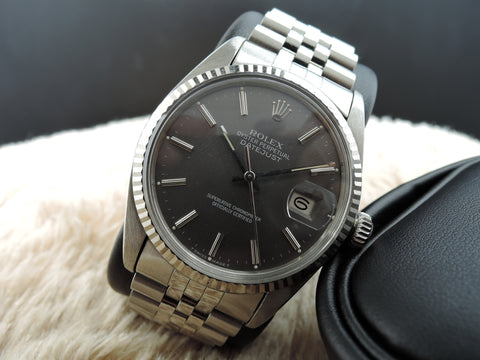1984 Rolex DATEJUST 16014 Stainless Steel Original Grey Dial