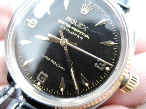 1959 Rolex AIR KING EXPLORER 5501 2-Tone with Original Gilt Dial