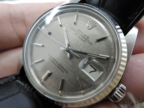 1971 Rolex DATEJUST 1601 SS with Original Grey Texture SIGMA Dial