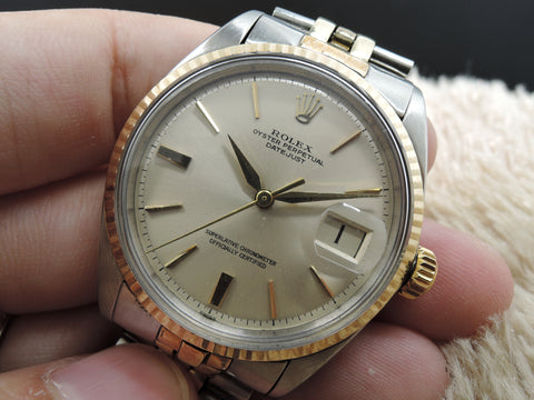 1963 Rolex DATEJUST 1601 2-Tone ORIGINAL Silver Dial with Dauphine Hands