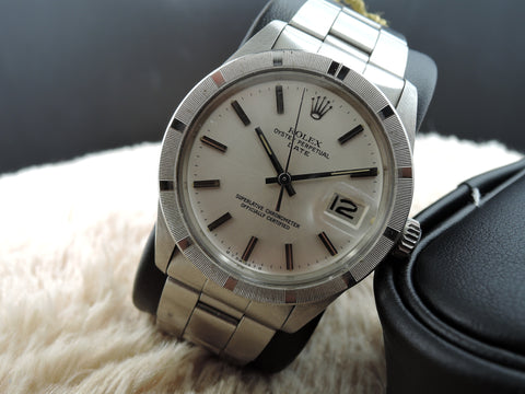 1975 Rolex OYSTER DATE 1501 with Original SIGMA Silver Dial and Papers