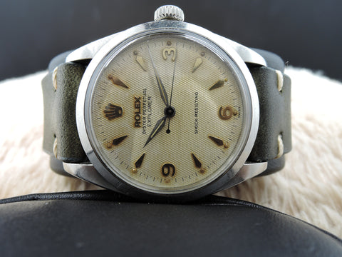 1953 Rolex OYSTER PERPETUAL 6298 Explorer Big Bubbleback with Honeycomb Dial