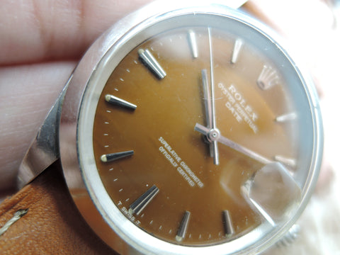 1964 Rolex OYSTER DATE 1500 Original Tropical Brown Dial