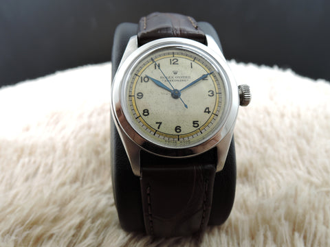 "1941 Rolex OYSTER ""SPEEDKING"" 3139  with Creamy Arabic Dial"