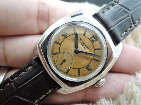 "1945 Rolex OYSTER ""ARMY"" Military 3139 with Tropical Arabic Dial"