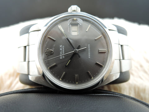 1973 Rolex OYSTER DATE 6694 Original Grey Dial with Folded Oyster Band