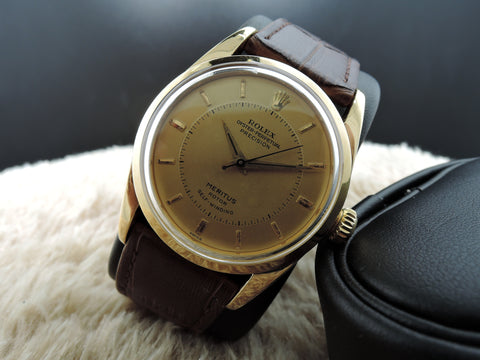 "1956 Rolex OYSTER PERPETUAL 6594 ""Meritus"" with Original Gold Dial"