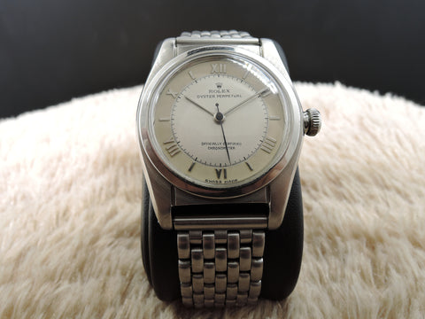 1945 Rolex BUBBLEBACK 2940 with 2-Tone Grey Dial with Raised Roman