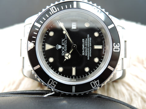 1993 Rolex SEA DWELLER 16600 T25 Dial *COMPLETE* Full Set Like New