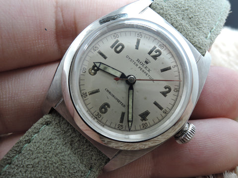 1945 Rolex BUBBLEBACK 2940 with Cream 2-4-6-8-10-12 Arabic Dial