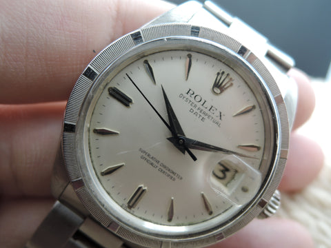 1961 Rolex OYSTER DATE 1500 Original Cream Dial with Arrowhead Markers and Dagger Hands