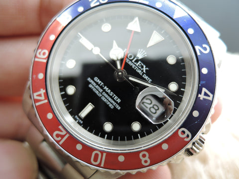 1999 Rolex GMT MASTER 16700 Pepsi Red/Blue Bezel A Serial (Last Production)