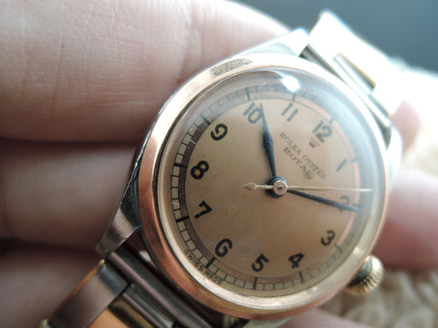 1942 Rolex OYSTER ROYAL 3121 2-Tone Salmon Arabic Dial with PG Bezel