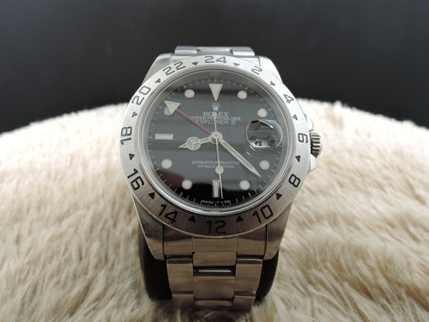 1999 Rolex EXPLORER 2 16570 Black Dial with Box and Papers