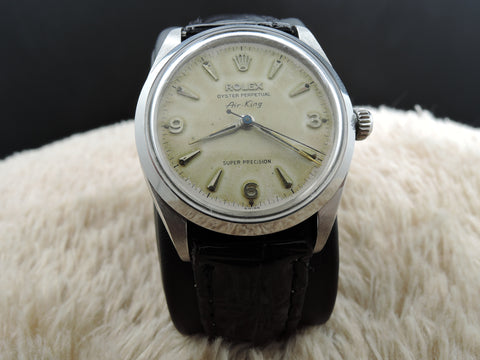 1959 Rolex OYSTER PERPETUAL 6552 Air King with Raised 3 6 9 Arabic Numerals