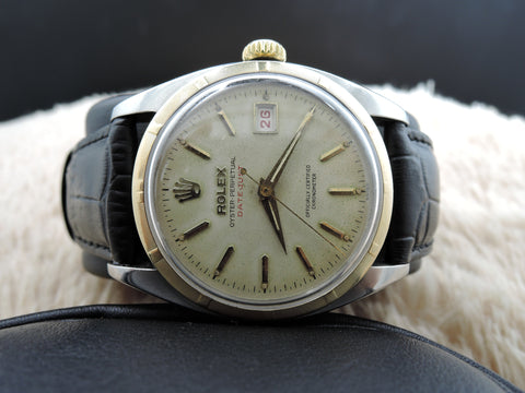 "1951 Rolex OYSTER PERPETUAL 6075 ""RED"" Datejust BIG Bubbleback (36mm)"