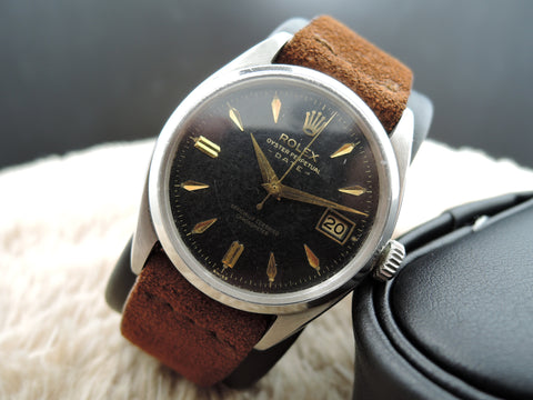 1957 Rolex OYSTER DATE 6534 Original Gilt Dial with Dauphine Hands