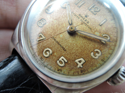 1949 Rolex BUBBLEBACK 6050 with Original Tropical Arabic Dial
