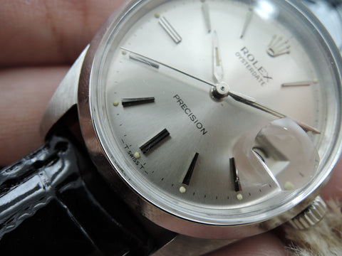 1966 Rolex OYSTER DATE 6694 Original Silver Dial with Paper