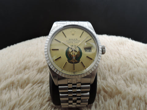 1987 Rolex DATEJUST 16030 Original Gold Dial with UAE Logo Full Set