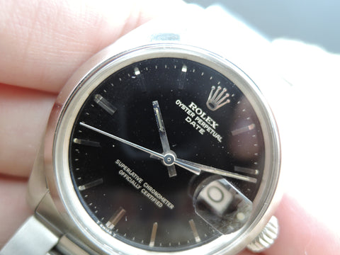 1971 Rolex OYSTER DATE 1500 with Original Gilt Dial and Solid Oyster Band
