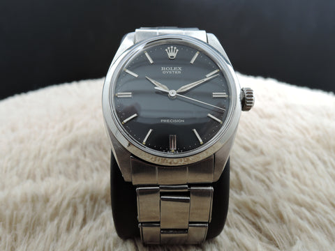 1962 Rolex OYSTER 6426 Original Glossy Black Dial with Rivet Band