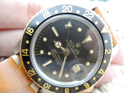 1978 Rolex GMT MASTER 2-Tone 1675 Black Nipple Nice Patina Dial