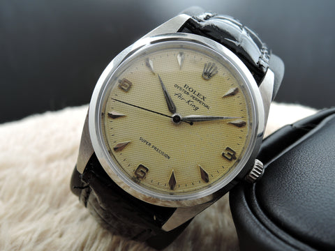 1958 Rolex Air King 5504 Big Size Original Honeycomb