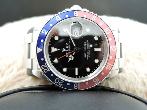 1998 Rolex GMT MASTER 16700 Pepsi Red/Blue Bezel with BOX and PAPER