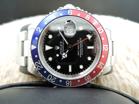 1996 Rolex GMT MASTER 16700 Pepsi Red/Blue Bezel with BOX and PAPER
