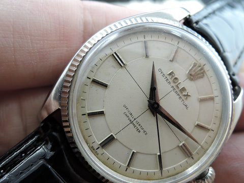 1955 Rolex OYSTER PERPETUAL 6567 Original Sector Cream Dial with Dauphine Hands