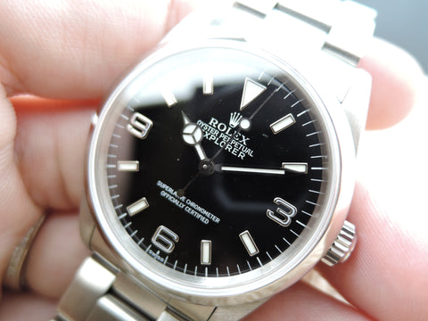 1998 Rolex EXPLORER 1 14270 Black Dial with Box and Papers