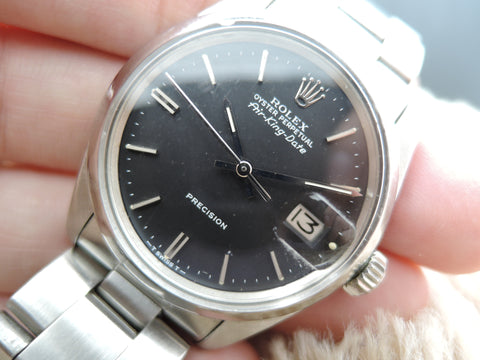 1970 Rolex AIR KING DATE 5700 Original Matt Black Dial