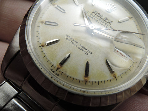 1957 Rolex DATEJUST 6605 with Creamy DIal Red/Black Date and Full Set