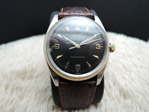 1958 Rolex AIR KING EXPLORER 5501 2-Tone with Original Black Honeycomb Dial