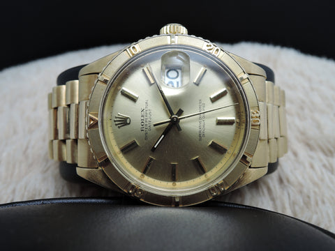 1959 Rolex DATEJUST TURNOGRAPH 6609 18K Yellow Gold with President Band
