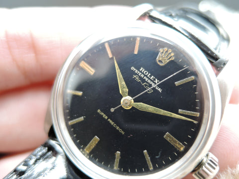 "1959 Rolex AIR KING 5500 ""Super Precision"" with Original Gilt Dial and Gold Printing"