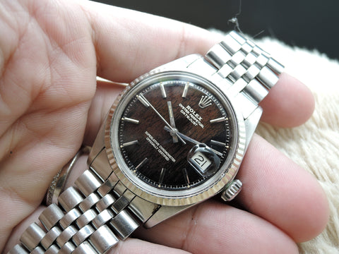 1969 Rolex DATEJUST 1601 SS Original Tropical Glossy Gilt Dial