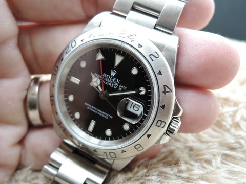 1999 Rolex EXPLORER 2 16570 Black Dial with Box and Paper