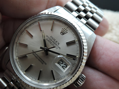 1984 Rolex DATEJUST 16014 Stainless Steel Original SIlver Dial