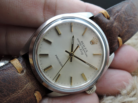 1978 Rolex AIR KING 5500 Original Silver Dial with Gold Markers and Hands