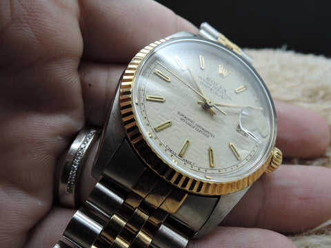 1987 Rolex DATEJUST 16013 2-Tone with ORIGINAL Creamy Computer Dial