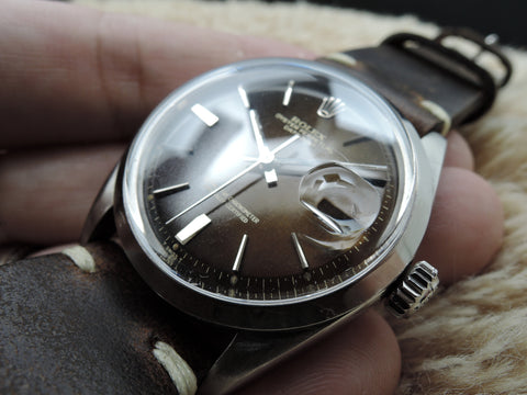 1963 Rolex DATEJUST 1600 SS Original Tropical Glossy Gilt Dial