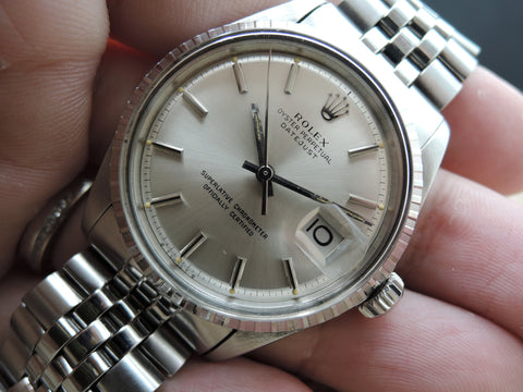 1970 Rolex DATEJUST 1603 SS with ORIGINAL Silver SIGMA Dial