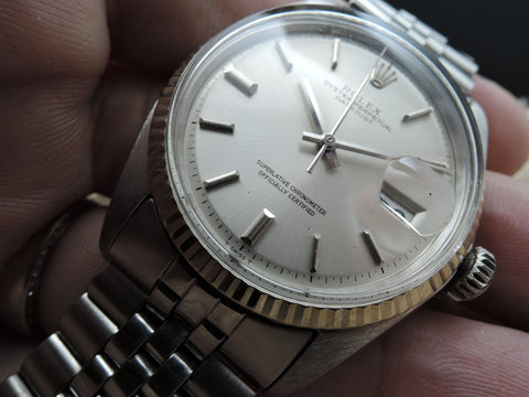 1969 Rolex DATEJUST 1601 SS ORIGINAL Non-Luminous Dial with Folded Jubilee