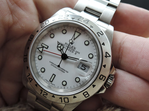 2000 Rolex EXPLORER 2 16570 White Dial with FULL SET