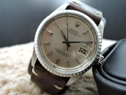 1972 Rolex DATEJUST 1603 SS with ORIGINAL Silver Dial