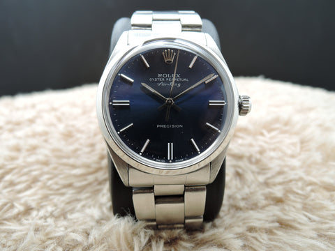 1972 Rolex AIR KING 5500 Blue Dial with Solid Oyster Band